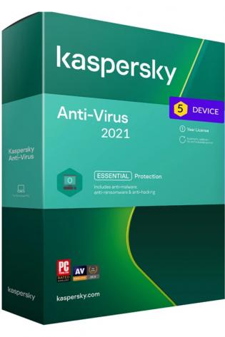 Kaspersky Antivirus - 5 naprav - 1 leto