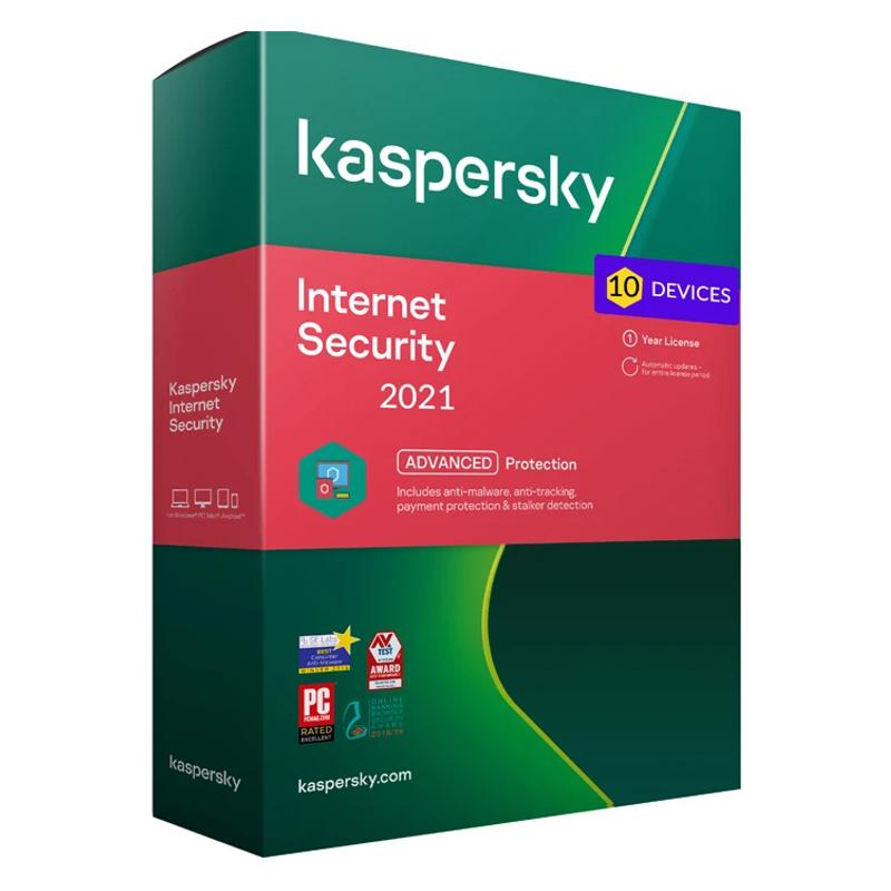 Kaspersky Internet Security - 10 naprav - 1 leto