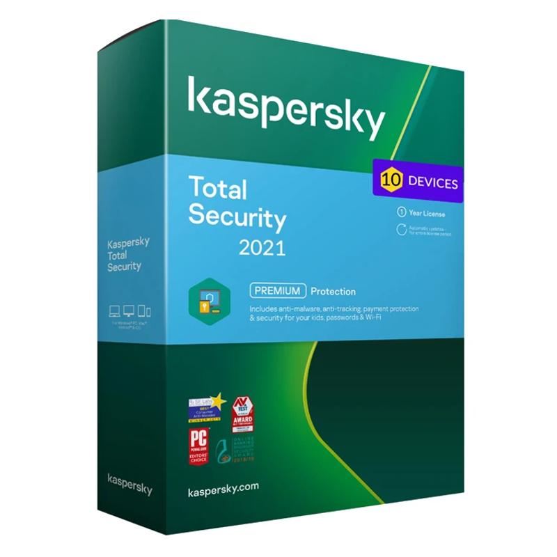 Kaspersky Internet Total - 10 naprav - 1 leto