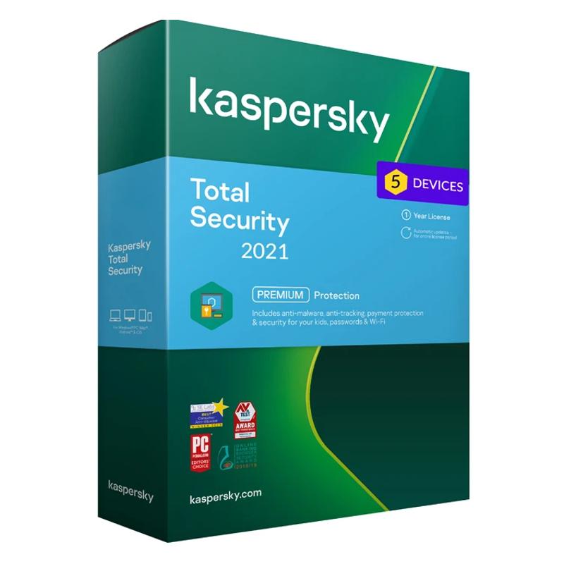 Kaspersky Total Security - 5 naprav - 1 leto