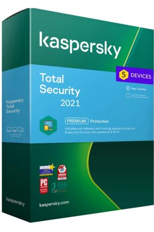 Kaspersky Total Security - 5 naprav - 2 leti