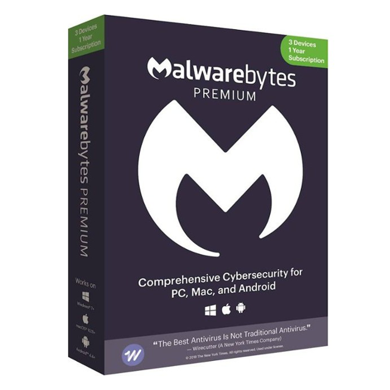 Malwarebytes Premium 2021 - 3 naprave - 1 leto