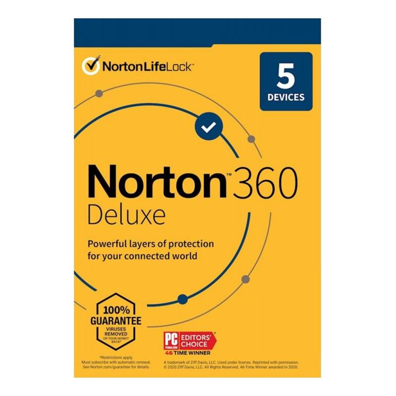 Norton 360 Delux - 5 naprav - 1 leto